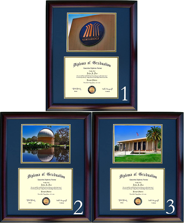 Cal Limited price State Northridge Diploma Frame - Virginia Beach Mall Fr Option #3 Cherry Photo