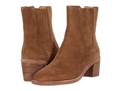 Madewell Desi High Shaft Chelsea Boot (Pecan Shell Suede) Women