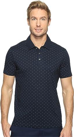 Perry Ellis - Micro Print Pima Cotton Polo Shirt