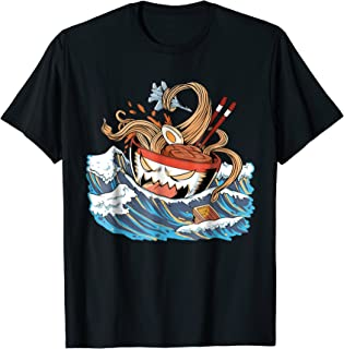 Japanese Ramen Gift T Shirt Anime Noodle Graphic Novel Tee