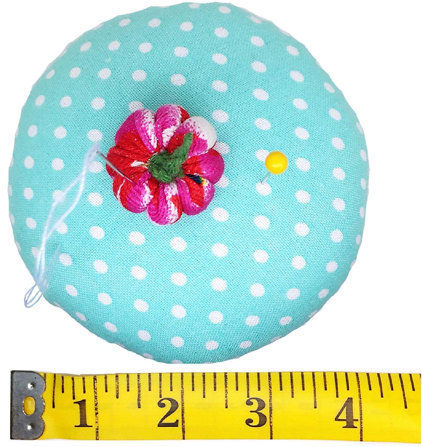 PeavyTailor Emery Pin Cushion 10oz Extra Large Keep Needles Clean and Sharp Needle Storage Organizer - Little Pumpkin