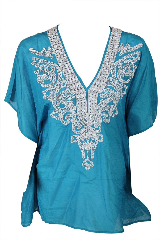 Karen Kane Womens Plus Tile bluee Passementerie Lurex Lace Scarf Top S