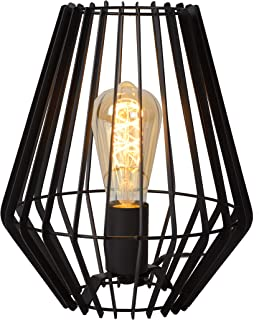 Lucide 78598/01/30 Lampe de Table, Métal, E27, 40 W, Noir