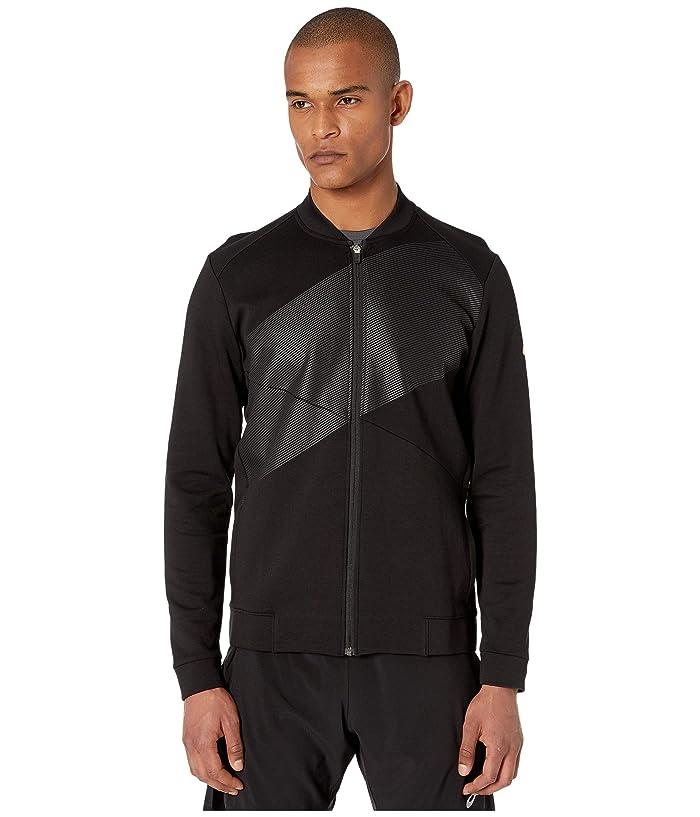 ASICS  Tokyo Warm Up Top (Performance Black/Performance Black) Mens Clothing
