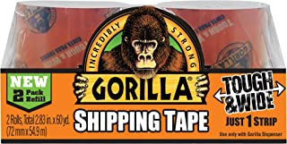 Gorilla Packing Tape Tough & Wide Refill for Moving, Shipping and Storage, 2.83