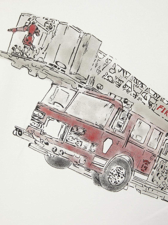 NAME IT Jungen Langarmshirt NMMROBIN LS TOP Feuerwehr
