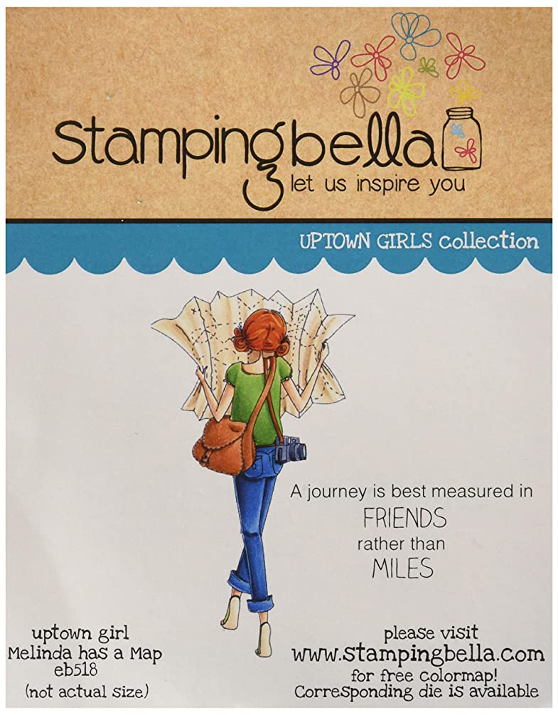 Stamping Bella EB518 Cling Stamps-Melinda Has A Map