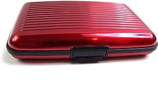 ALUMINIUM CREDIT CARD WALLET HOLDER RFID BLOCKING 6 COLOURS (RED)