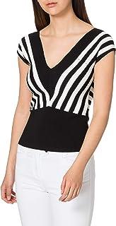 Morgan Pull Col V Rayures Diagonales Must Suéter para Mujer