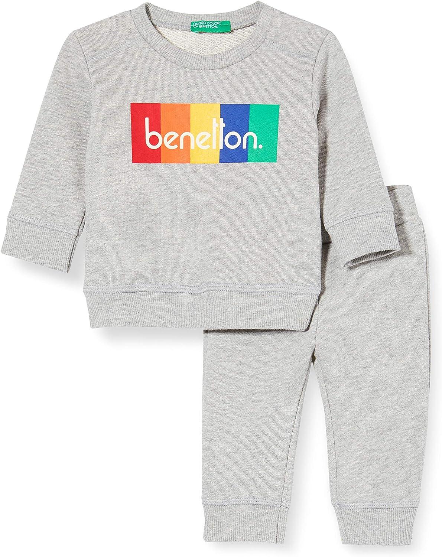 United Colors of Benetton Comp(Maglia+Pant) Pantalón para Niños