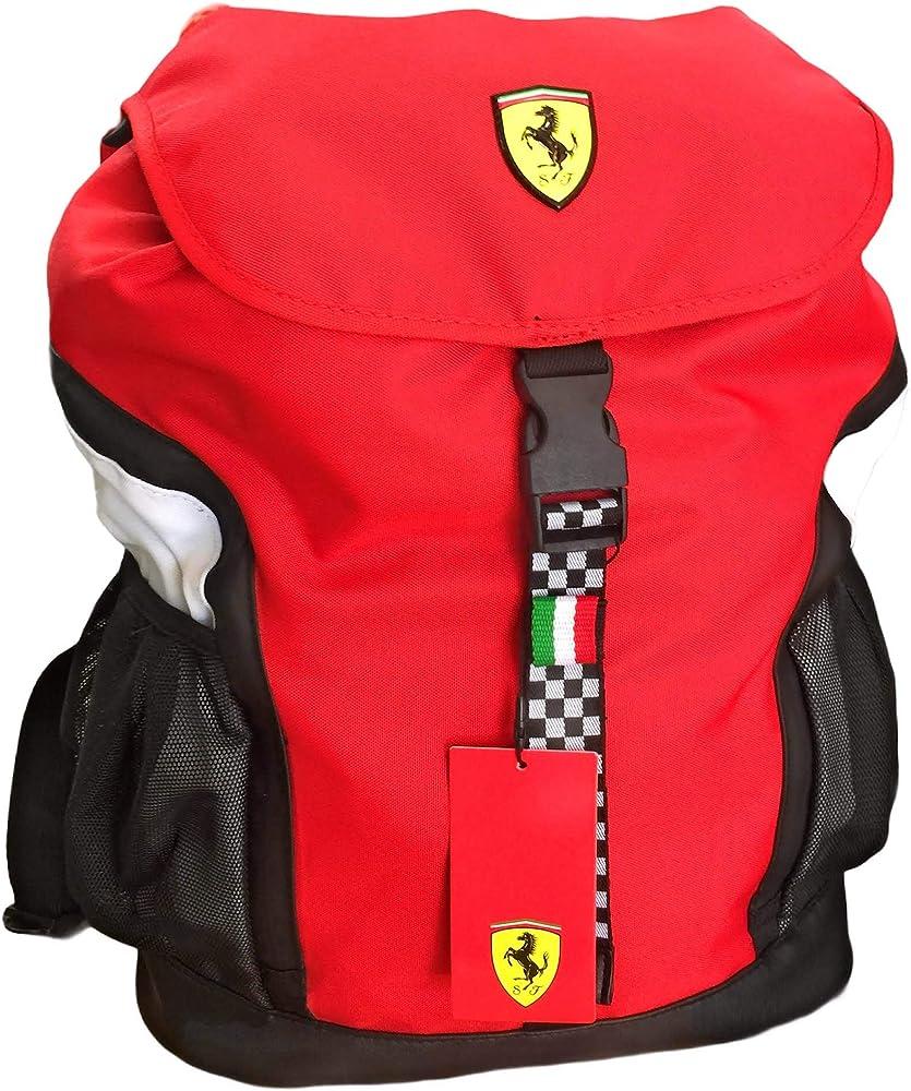 Ferrari zaino per ragazzi in poliestere con retro reflective 8058263041157
