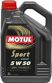 Motul 102716 Sport 5W50 Synthetic Engine Oil 5-Liter, 169.05 Fluid_Ounces