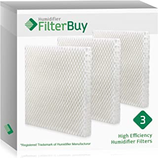 FilterBuy Replacement Humidifier Filters Compatible with Honeywell HAC-801, Duracraft AC-801, Sears Kenmore 01478 Humidifiers. Pack of 3 Filters