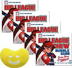 Big League Chew Female Softball Original Bubble Gum, 2.12-Ounce Pouches (Pack of 4) with Jelly Belly Mini Emoji Plush