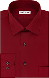 Van Heusen Men's TALL FIT Dress Shirts Lux Sateen Stretch Solid (Big and Tall)