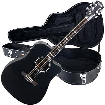 Rocktile Guitarra electroacústica D-60CE Cutaway negro (con estuche): Amazon.es: Instrumentos musicales