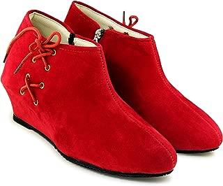 TEQTO Women's Multicolour Suede Ankle Boots