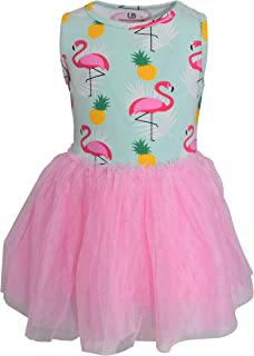 Unique Baby Girls Summer Flamingo Pineapple Tutu Dress