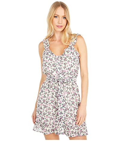 LOST + WANDER Garden Party Mini Dress (Ivory/Pink Floral) Women