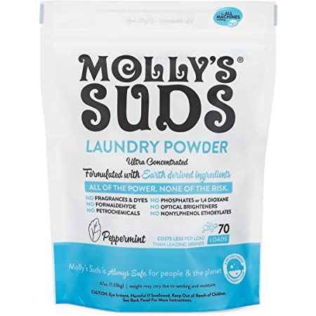 Molly's Suds Original Laundry Detergent Powder| Natural Laundry Detergent for Sensitive Skin | Earth-Derived Ingredients, Stain Fighting | 70 loads