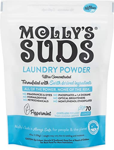 Molly's Suds Original Laundry Detergent Powder| Natural Laundry Detergent for Sensitive Skin | Earth-Derived Ingredie...