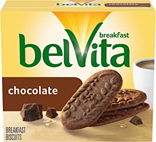belVita Breakfast Biscuits, Chocolate Flavor, 30 Packs (4 Biscuits Per Pack)