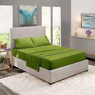 King Sheets - Bed Sheets King Size – Deep Pocket Hotel Sheets – Cool Sheets - Luxury 1800 Sheets Hotel Bedding Microfiber Sheets - Soft Sheets – King - Calla Green