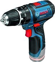 Bosch Professional 06019B6901 Bosch GSB 12V-15 Professional, Solo Carton-Taladro con tecnología de Litio (Gama, 2 velocidades, 0-380/1300 RPM), 100 W, 12 V, Negro, Azul, Metálico, Rojo