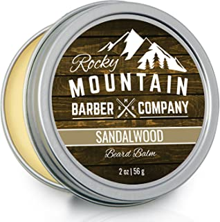 Beard Balm – Sandalwood Blend - Rocky Mountain Barber – with Nutrient Rich Bees Wax,