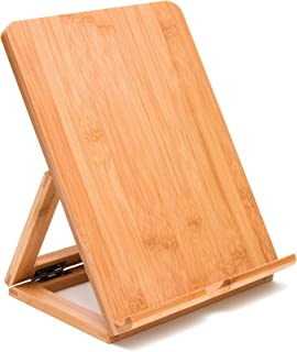 Lipper International 1886 Bamboo Wood Folding Stand for iPad, Samsung, Nexus, Nintendo Switch, and Other Tablets