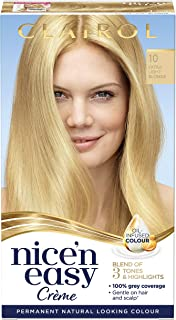 Clairol Nice' n Easy Permanent Hair Dye Extra 10 Light Blonde
