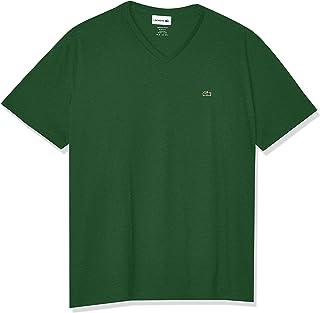 Lacoste camiseta masculina de algodão pima com gola V e manga curta