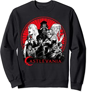 Castlevania Group Shot Red Circle Logo Sweatshirt