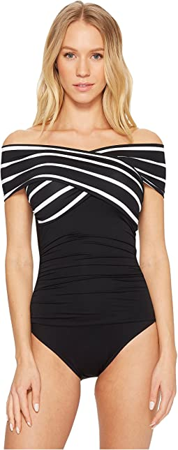 LAUREN Ralph Lauren Deauville Off the Shoulder One-Piece