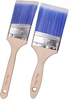 برس های رنگی Bates Paint- 2 عدد (3 اینچ ، زاویه 2.5 اینچ) دسته چوبی معلق ، برس های رنگی برای دیوار ، برس برس Trim Paint ، Brush Push Paint برس ، برس رنگ پرمیوم ، برس برس Premium ، برس های رنگی خانگی ، برس رنگ