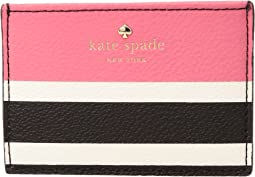 Kate Spade New York - Hyde Lane Stripe Pop Card Holder