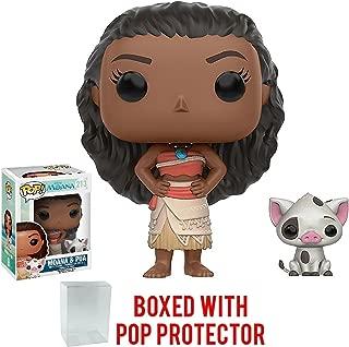 Funko Pop! Disney: Moana - Moana & Pua Vinyl Figure (Bundled with Pop BOX PROTECTOR CASE)