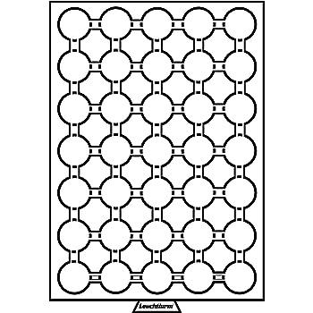 teinte fum/ée Leuchtturm M/édaillier 35 compartiments circulaires de 32,5 mm /Ø