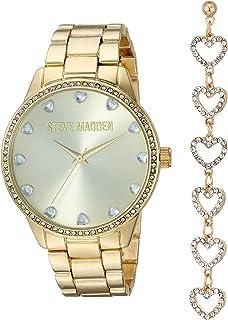 STEVE MADDEN - Reloj de pulsera para mujer, diseño de corazón con diamantes de imitación, varios colores