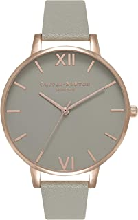 Olivia Burton Womens Quartz Watch, Analog Display and Leather Strap OB15BD61
