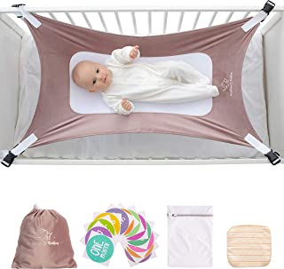 Buddies & Babies Baby Crib Hammock - Safety Crescent Mimics Womb Hanging Bed for Newborns - Best Infant Bed Sleeping with Mesh Support and Adjustable Straps - Great Baby Shower Gift Pink