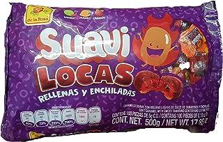 Suavi Locas De la Rosa 500g/17.85oz Original Classic Mexican version individualy wrapped pieces