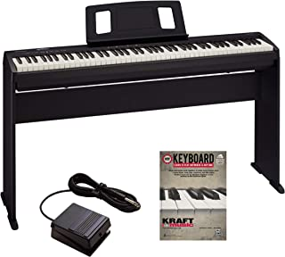 Roland FP-10 Digital Piano with Roland KSCFP10BK Piano Stand and Lesson Book