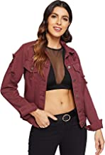 Best burgundy denim jacket Reviews