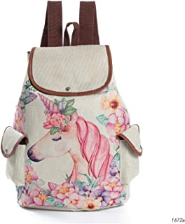 Women Unicorn Large Capacity Bag Animal Printed Linen,School bag