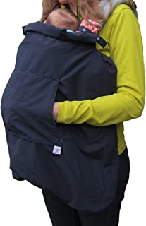 Little Goat 3-Season Baby Carrier Cover for Rain and Cold Weather (Indigo/Aqua)