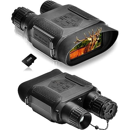 SOLOMARK 暗視スコープ 赤外線望遠鏡 暗視カメラ デジカメ暗視鏡 ナイトビジョン 暗視双眼鏡 400m / 1300ft 7倍の倍率 640x480p HD 日本語説明書付き