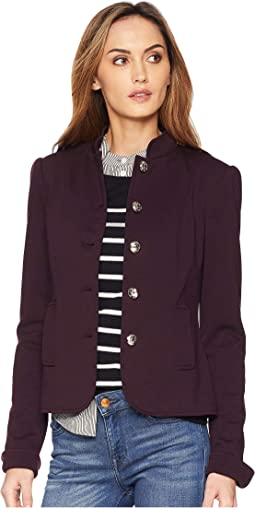 Stand Collar Button Front Jacket
