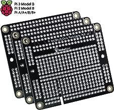 MakerSpot RPi Raspberry Pi 2 Pi 3 A+ B+ Proto Breadboard PCB Prototyping Board (3 Pack)