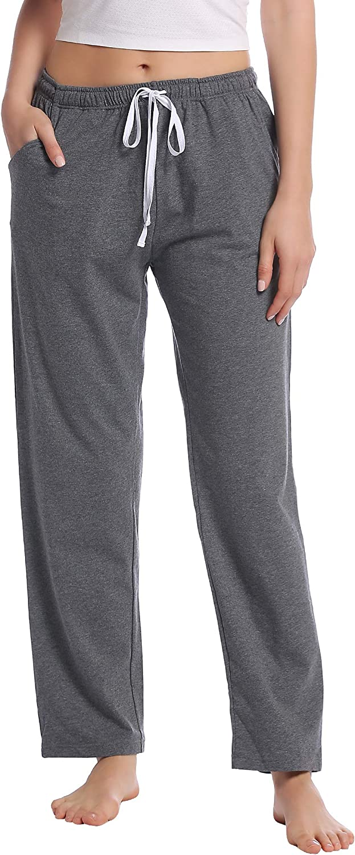 Joyaria Women's Cotton Sweatpant/Yoga/Lounge/Pajama/Sleep Pants with Pockets Small-XXL